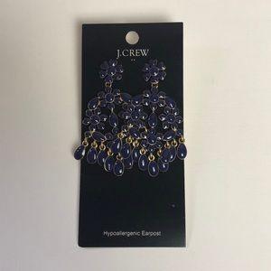 J. Crew Blue Tier Earrings